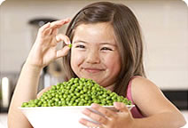 Girl With Peas